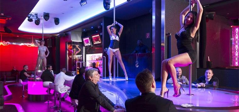 Strip shows shower